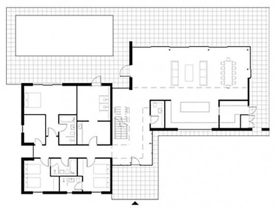 Plano de casa de dos plantas