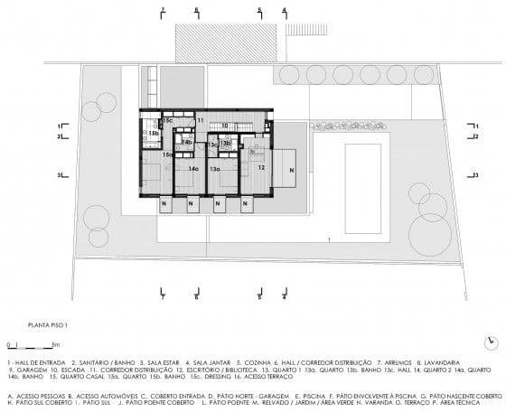 Plano de casa de segundo piso