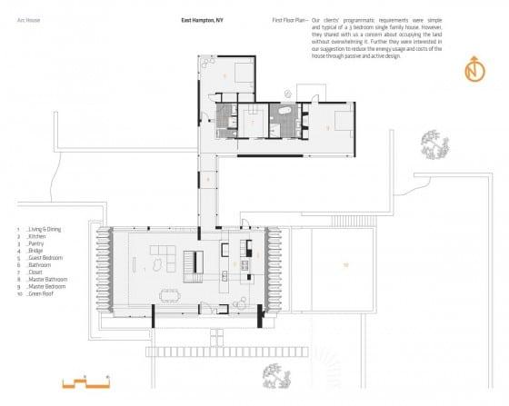 Plano de casa de un piso grande