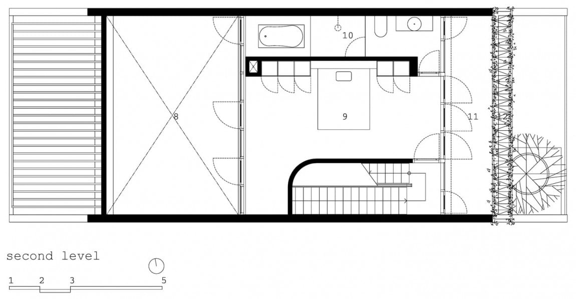 Planos de casa de tres plantas peque a for Planos de casas pequenas de una planta