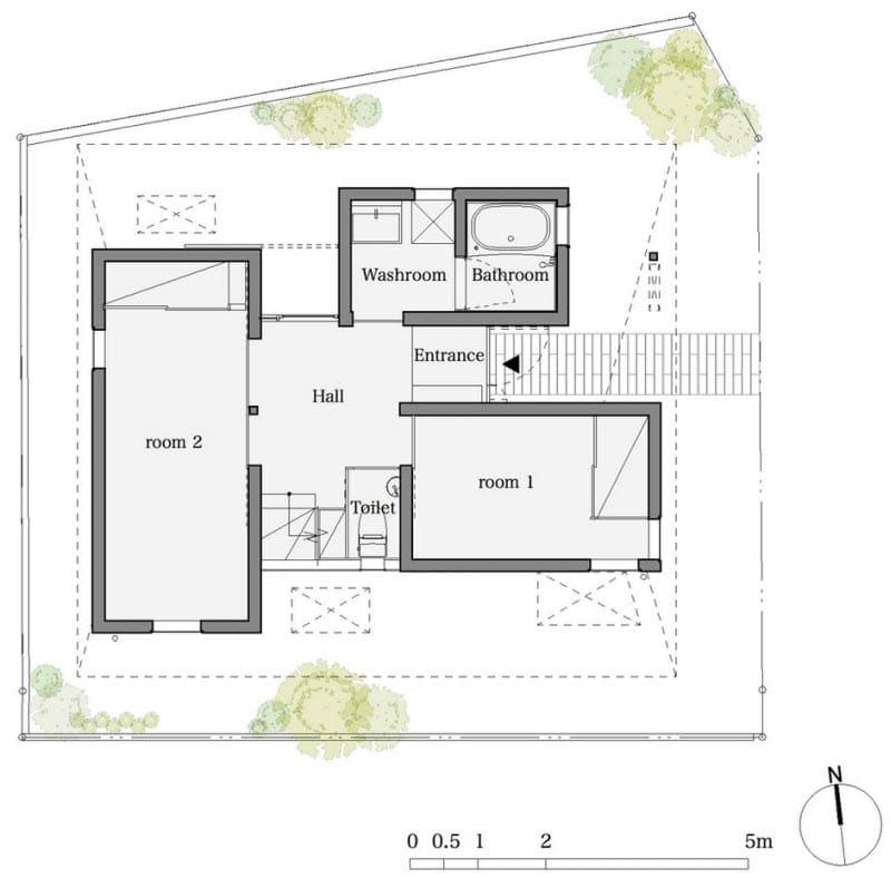 Dise o de casa peque a de dos plantas for Planos para casas pequenas