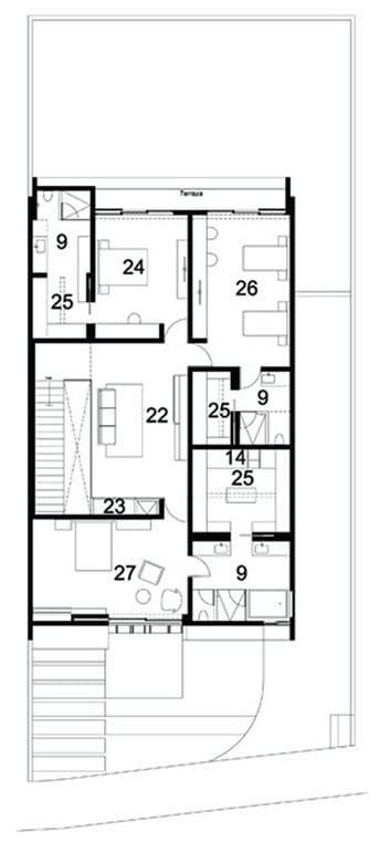 Casas de dos pisos y tres dormitorios for Diseno casa una planta