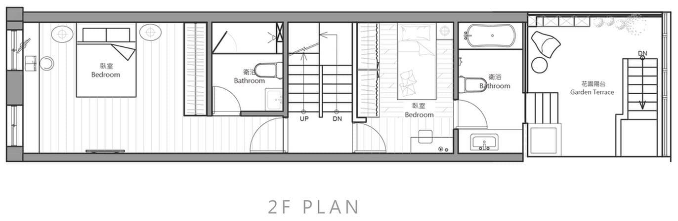 Planos de casa angosta y larga de tres dormitorios for Planos de casa habitacion