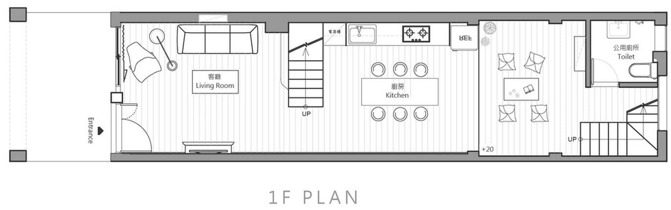 Planos de casa angosta y larga de tres dormitorios for Planos planos de casas
