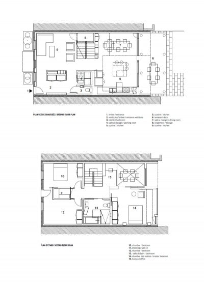 Planos de casa de dos plantas pequeña