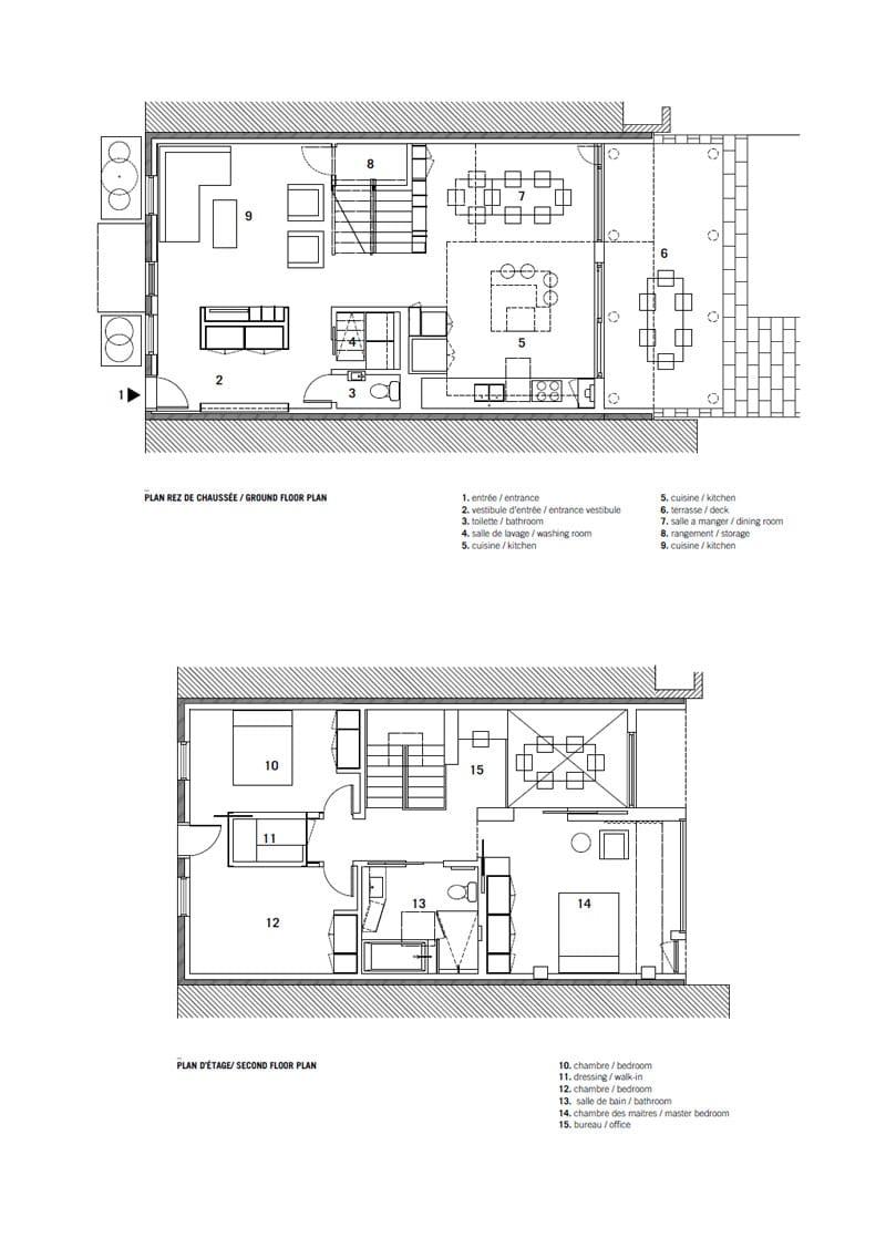 Remodelaci n de casa peque a de dos plantas for Planos de casas de 2 plantas