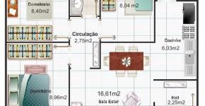 Diseo de casa cuadrada de dos pisos con planos y fachadas