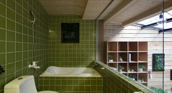 Vista del cuarto de baño en mezzanine