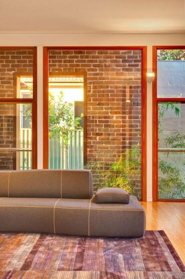 Detalles de diseño de sala moderna