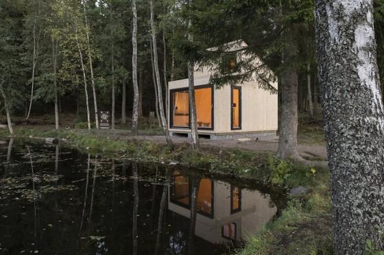 Diseño de cabaña moderna de madera 001