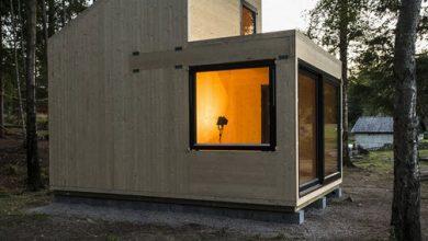 Photo of Diseño de cabaña de madera de un solo ambiente, volumen fácil de contruir