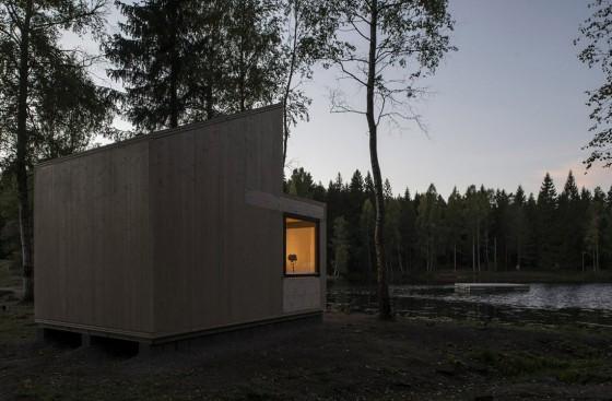 Diseño de cabaña moderna de madera 005