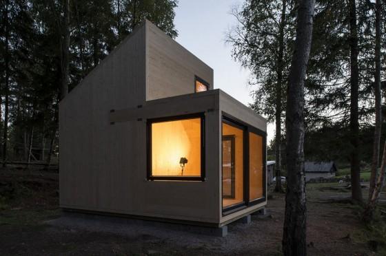 Diseño de cabaña moderna de madera 008