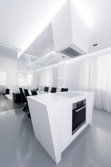 Dise o futurista de departamento construye hogar - Campana extractora diseno ...