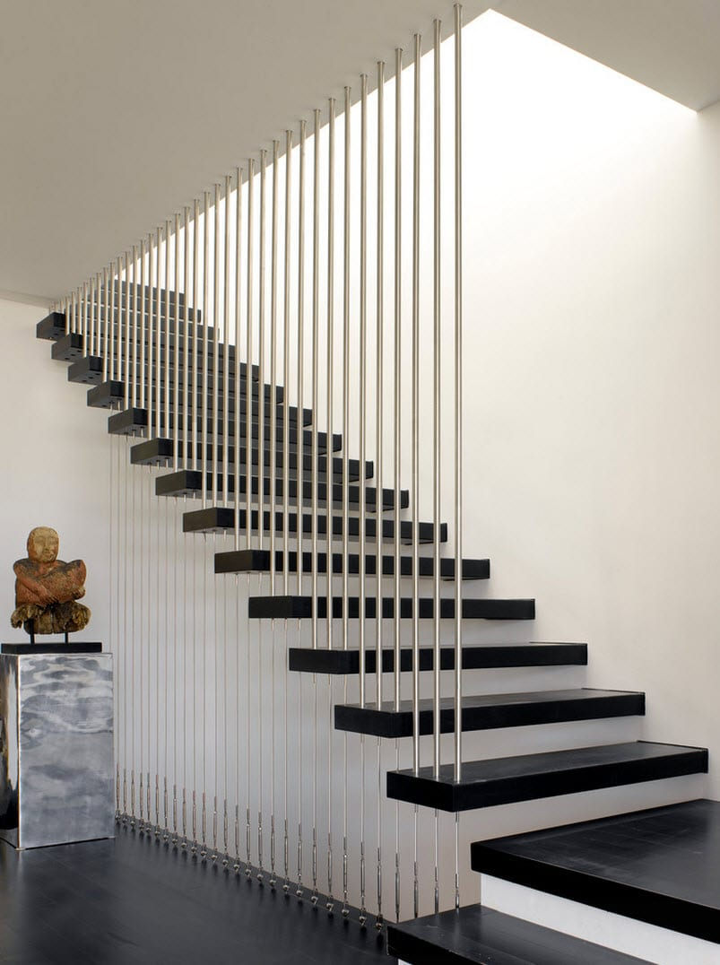 Dise o de escaleras y pasamanos construye hogar for Ideas para escaleras