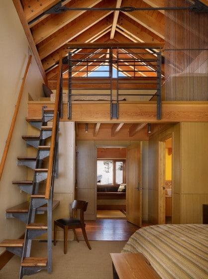 Diseño de escaleras de madera para casas pequeñas