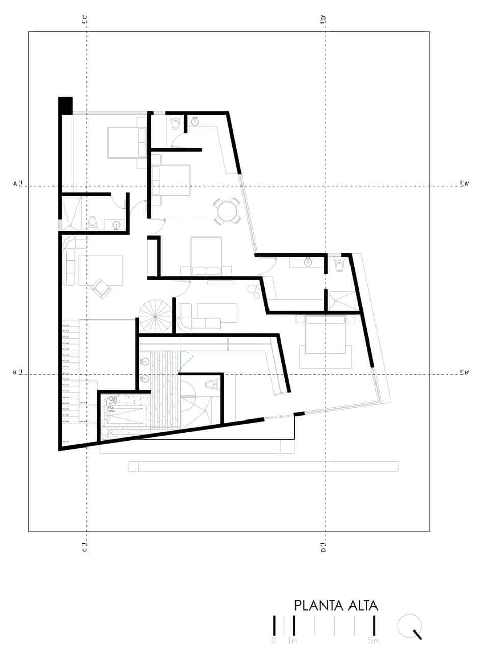 Planos de casa grande con piscina for Diseno de planos