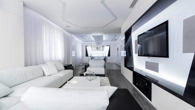 Photo of Diseño futurista de departamento, empleo de formas geométricas y trabajos con la iluminación en la decoración de interiores