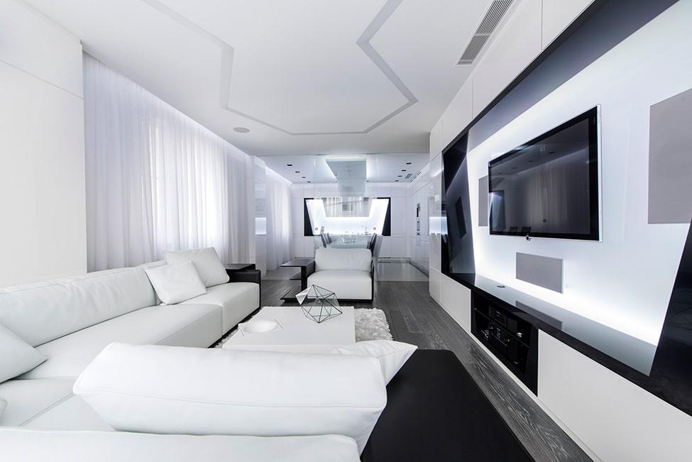 Dise o futurista de departamento for Diseno de iluminacion de interiores