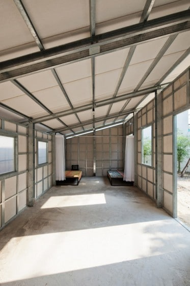 Estructuras internas de acero de casa anti sismica 002