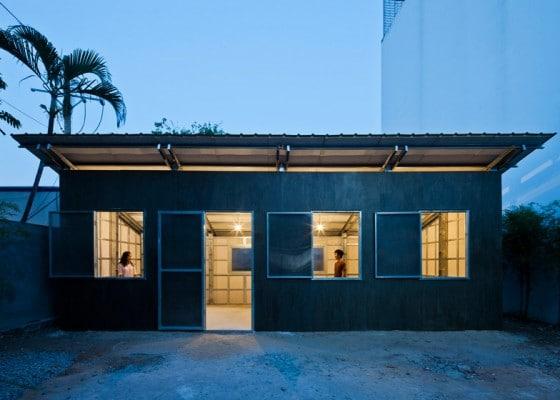 Fachada de casa de bajo precio y anti sismica