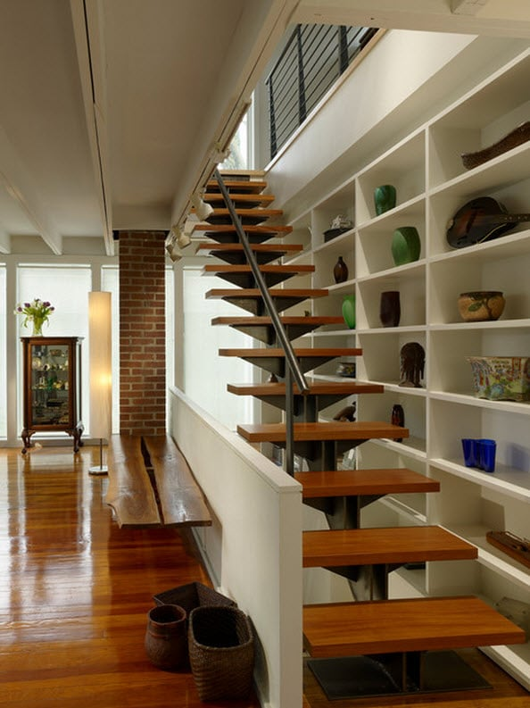 Dise o de escaleras y pasamanos construye hogar for Tipos de escaleras para casas de 2 pisos