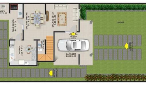 planos de casas de dos pisos de 40 metros cuadrados