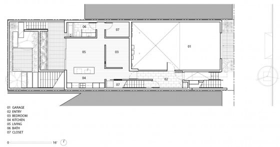 Planos de casa de tres pisos