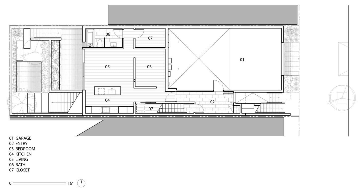 Plano de casa de tres pisos para terrenos angostos for Planos de casas de 3 pisos