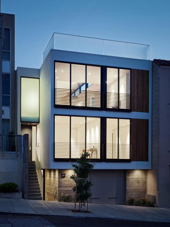Planos de casa de tres pisos dise o moderno for Fachadas modernas para casas de tres pisos