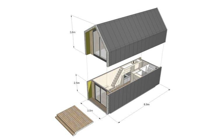 Dise o de casa prefabricada con planos construye hogar for Planos de casas con medidas