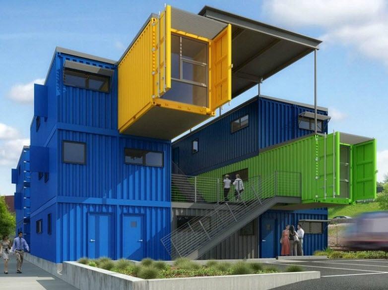 Dise o de casas con contenedores construcci n - Contenedores maritimos usados baratos ...