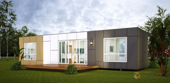 Casa construida con contenedor construcción moderna