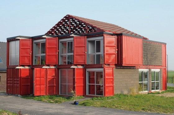 Diseño de casa hecha con contenedores