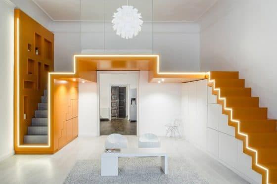 Diseño de mini departamento moderno para pareja