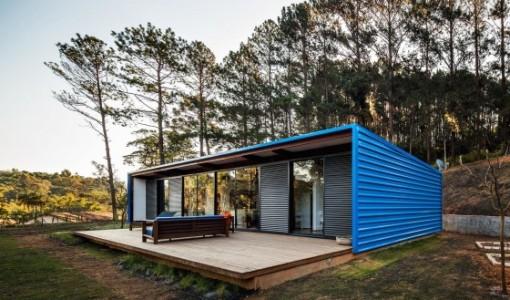 Casa pequeñas construidas con contenedores