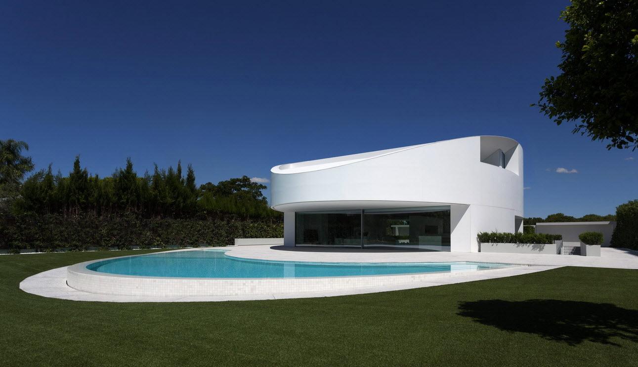 Planos de casa moderna de dos pisos ovalada for Fachada de casa moderna de una planta