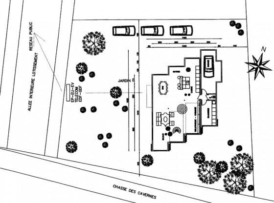 Plano de casa construida con contenedores
