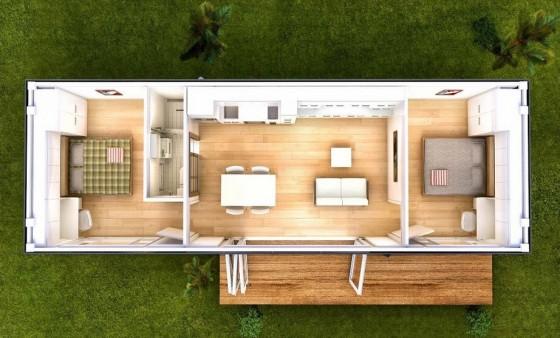 Plano de pequeña casa contenedor