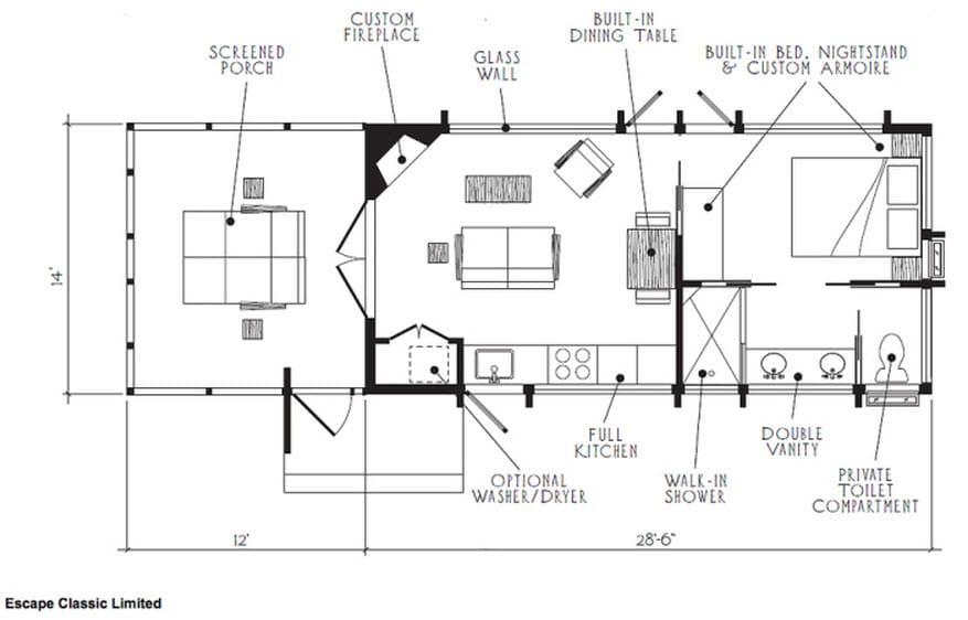 Diseño De Casa Pequeña De Madera Planos