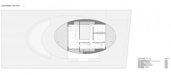 Plano de planta del segundo piso