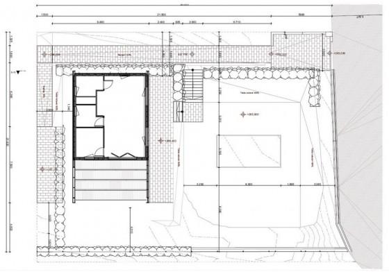 Planos de casa ecológica de 96 m²