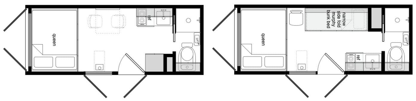 planos de casas hechas con contenedores