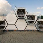 Estructuras para acampar o para conciertos