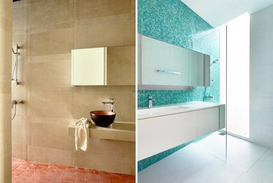 Diseño de cuarto de baño moderno y clásico