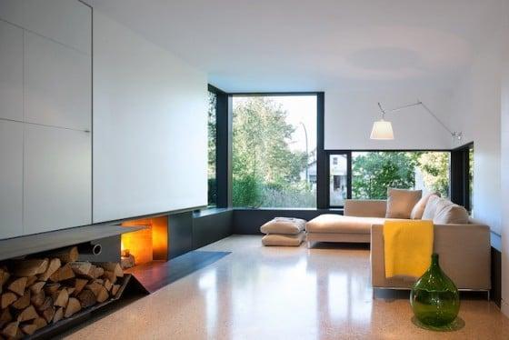 Decorción de interiores de sala moderna