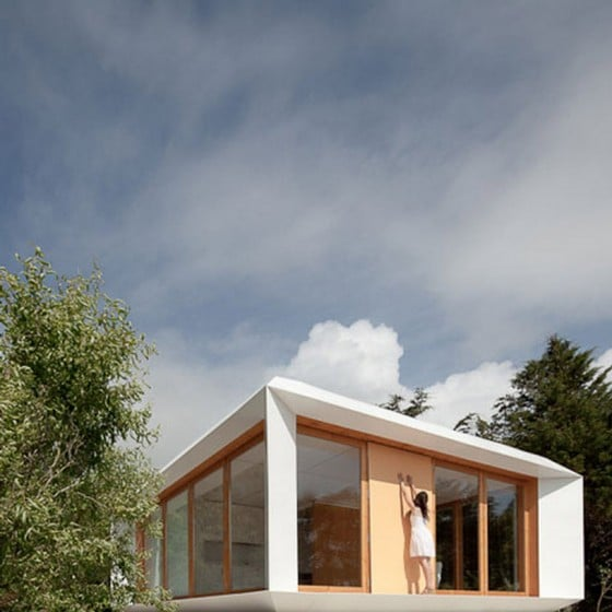 Diseño de moderna casa monovolumen