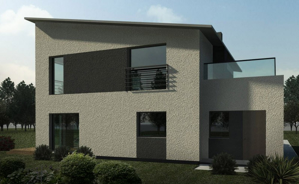 Planos de casa cuadrada de dos pisos Fachadas para casas de dos plantas