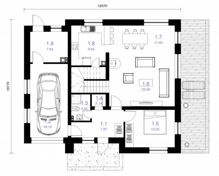 Planos de casa cuadrada de dos pisos for Planos para construir una casa de un piso
