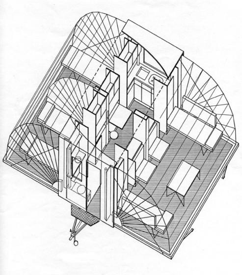 Plano de casa rodante (gráfico de distribución interna)